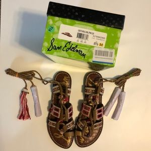 NIB Sam Edelman size 8 1/2 medium sandals pink
